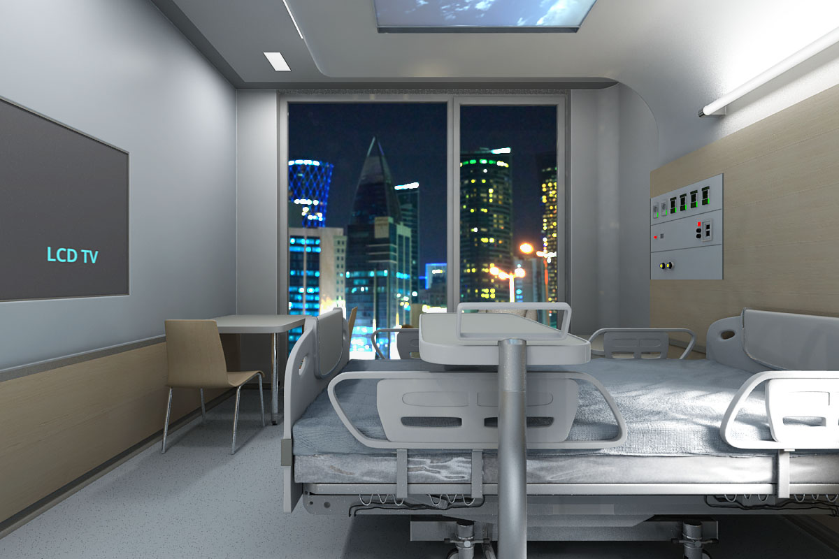 Nemocnica izba vizualizacia