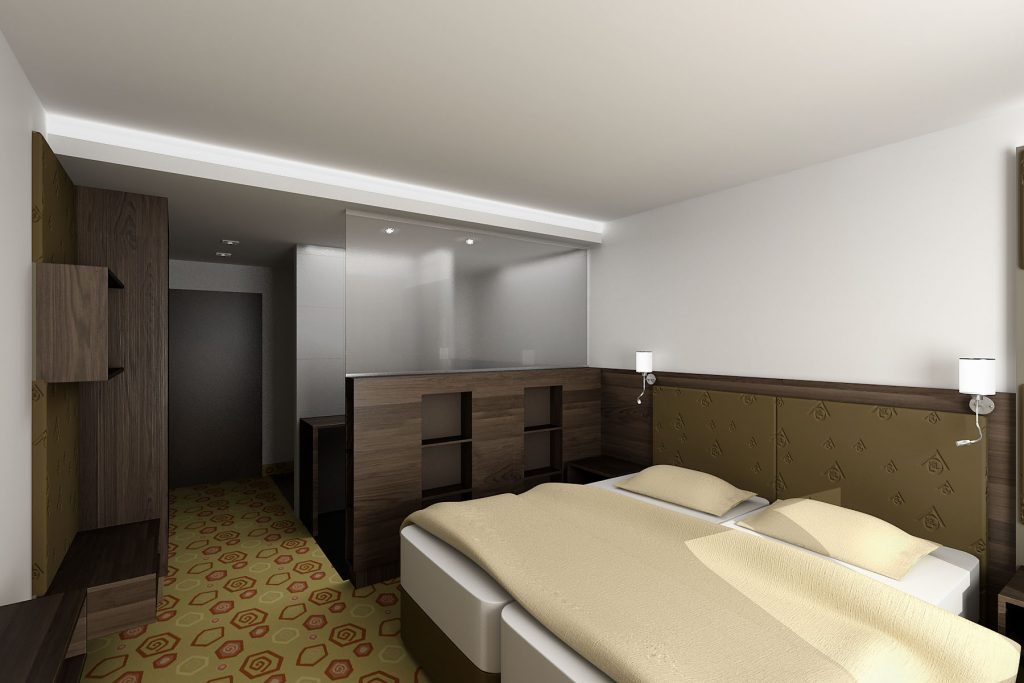 Hotel izba vizualizácia